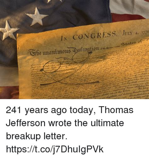 ultimate breakup letter 25 best memes about jefferson jefferson memes
