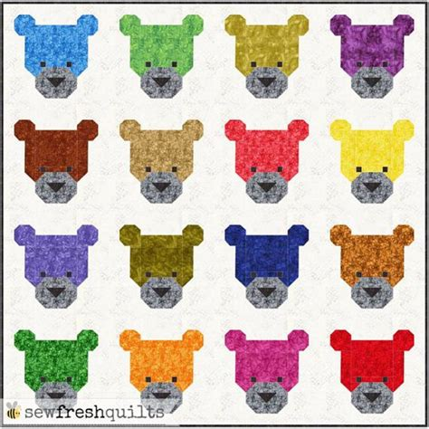 Patchwork Teddy Bears - 17 best images about thread and needle on