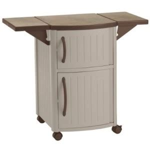 Patio Storage Cabinet Outdoor Prep Station For Patio Barbeque Grilling Storage Cabinet On Wheels Ebay