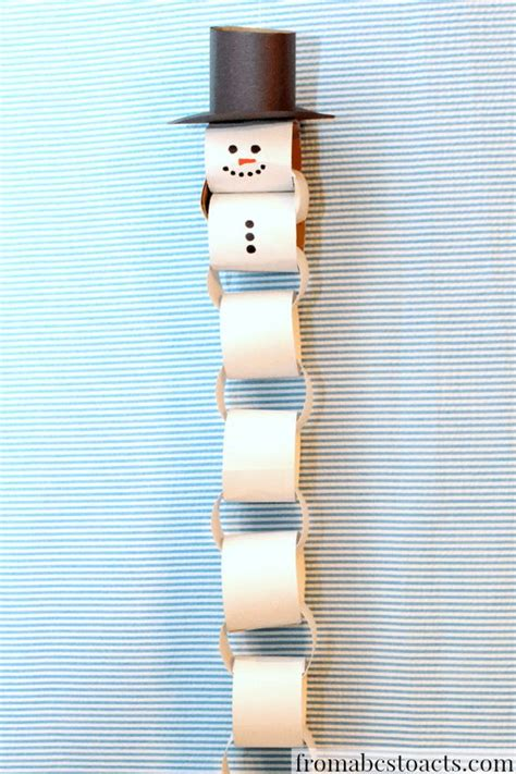 How To Make A Snowman Paper Chain - paper chain snowman countdown thanksgiving