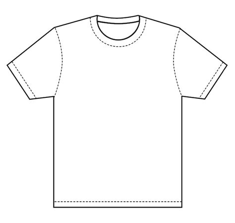 Blank T Shirt Coloring Page Thekindproject T Shirt Design Template Free