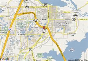 map of inn express sanford lake area sanford