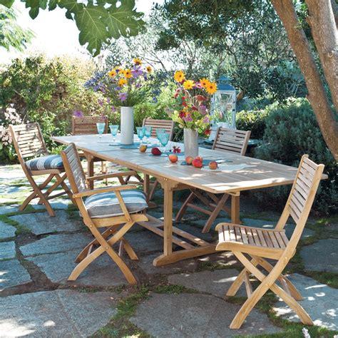 salle a manger jardin histoires de teck mobilier canape deco