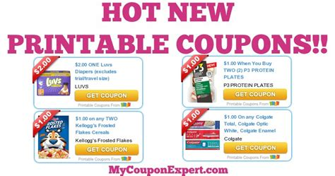 printable diaper coupons woot hot new printable coupons luvs colgate kellogg s