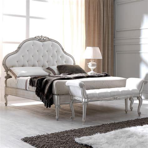 white upholstered bed white designer ornate italian silk button upholstered bed