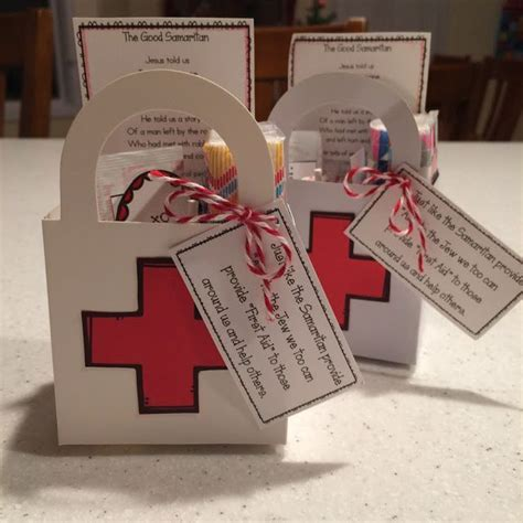 god gives good gifts vbs pinterest box templates the good samaritan first aid kit primary handout