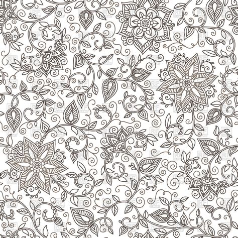 seamless doodle pattern free vector seamless floral pattern of spirals swirls and doodles