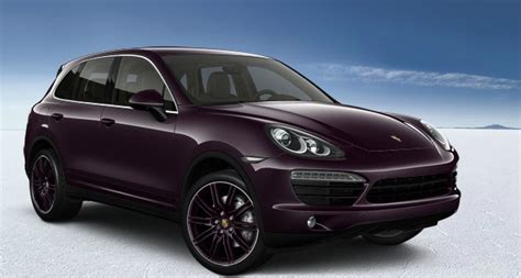 dark purple porsche purple cayenne s porche black interior and color match