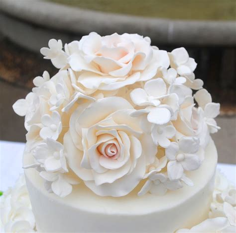 flower wedding cake topper light pink sugar flowers cake topper sugar roses sugar hydrangeas simply sweet shop in new