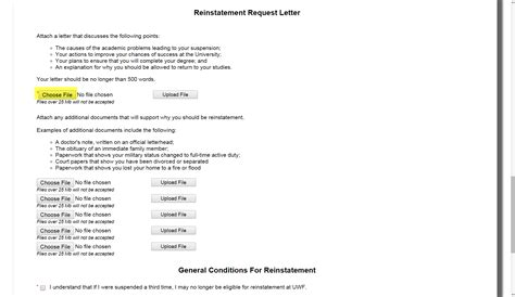 Petition Reinstatement Letter Sle Reinstatement Request From Academic Suspension Uwf