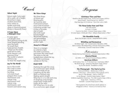 victorian christmas concert program page 2 john doan