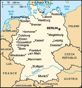germany map and surrounding countries what countries border germany list countries of the world