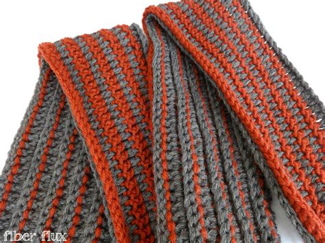 two color knit scarf two color scarf crochet pattern crochet and knit