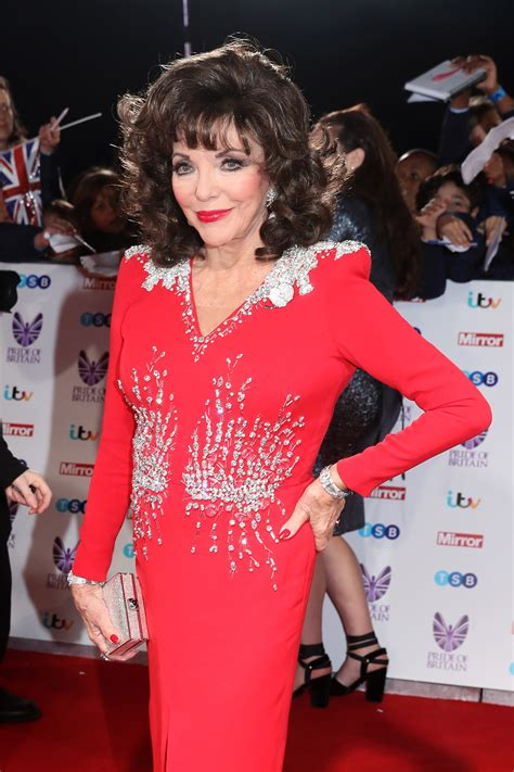 joan collins kindly requests that you bow down to her at
