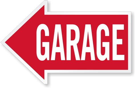 Garage Sign by Parking Garage Signs Garage Directional Signs
