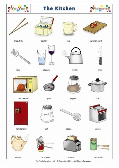 bathroom in german language kitchen utensils flashcards for kids