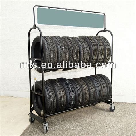 Do Tyres A Shelf by Mobile Metal Tire Rack Moving Tyre Storage Shelf Buy