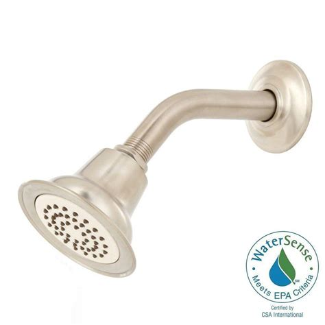 Moen Brushed Nickel Shower Arm by Moen Eco Performance 1 Spray Showerhead With Shower Arm