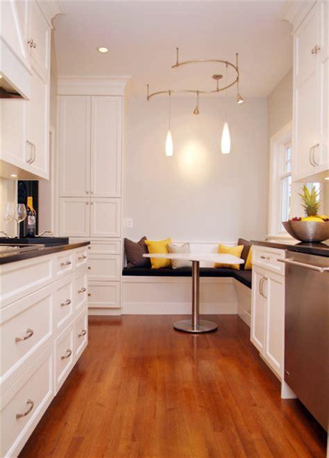 galley kitchen with breakfast nook dscf0009fb