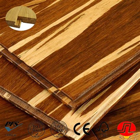 By Click Lock Famous Brand Tiger Stripe Bamboo Flooring