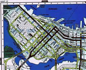 map of downtown vancouver canada vancouver canada tourism