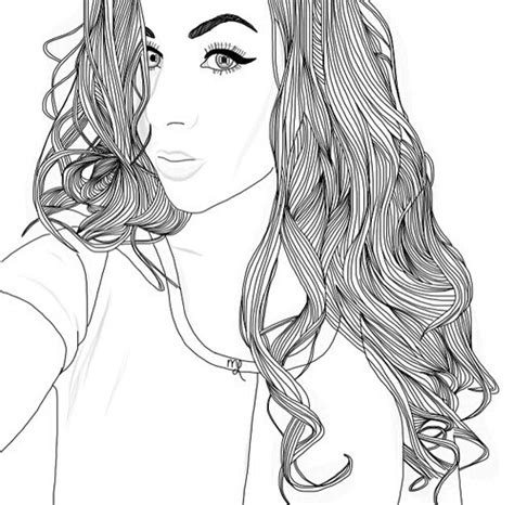 coloring pages of people s hair drawing image 4046879 by tschissl on favim com