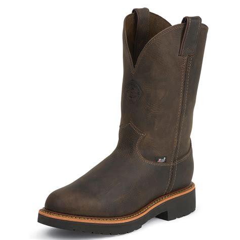 justin pull on work boots justin work j max pull on work boot jwk4442