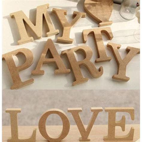 a z wooden alphabet words bridal free standing home decor mdf wood letter alphabet word free standing wedding party