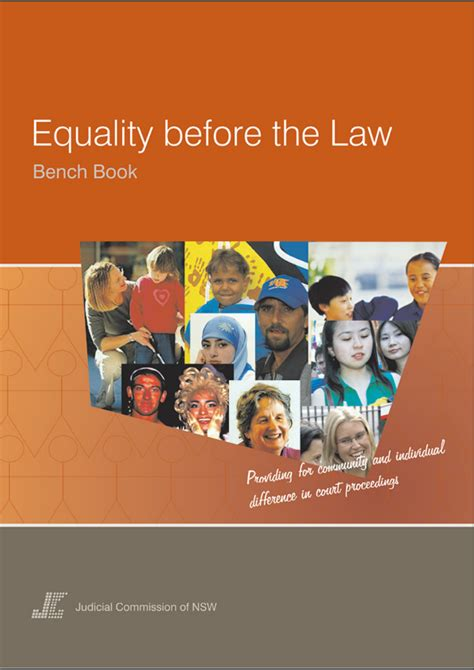 civil bench book civil bench book equality before the law bench book