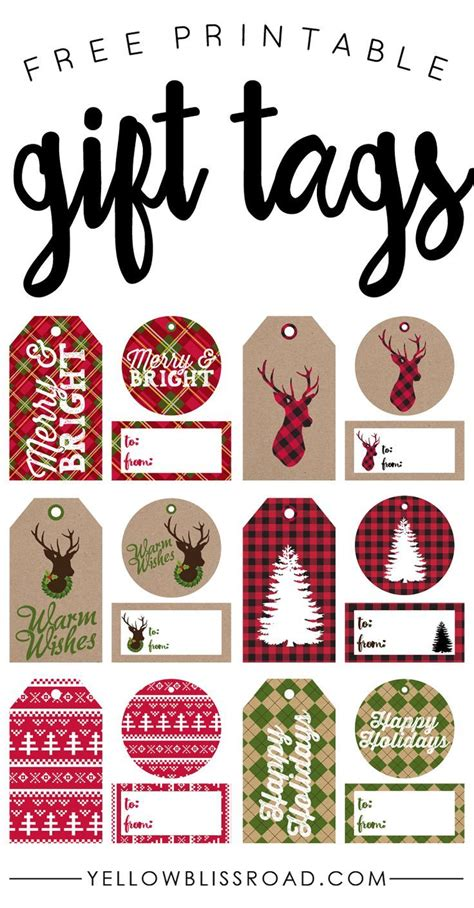 printable gift labels free free printable rustic and plaid gift tags de stijl