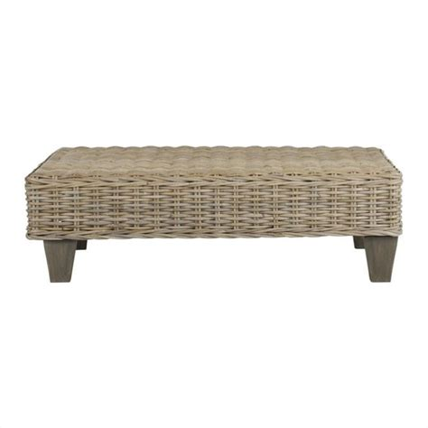 unfinished wooden benches safavieh leary wicker and wooden bench in natural
