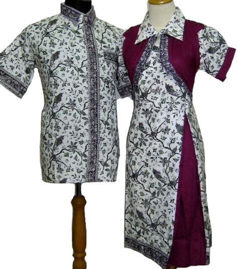 Baju Batik Muslim Model Dress Batik Modern Hairstylegalleries