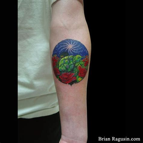 rose tattoo album covers grateful dead album cover with turtle and roses