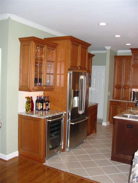 kitchen cabinets around refrigerator cabinets around fridge kitchen cabinets