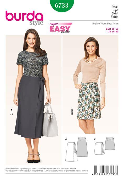 pattern review best of 2015 burda 6733 misses wrap skirt