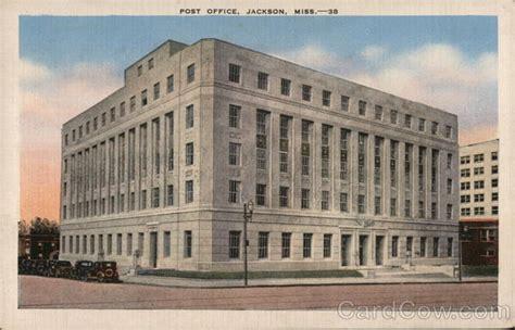 Jackson Post Office by Post Office Jackson Ms Postcard
