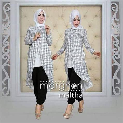 Grosir Murah Baju Tunik Crepe Printing maltha vol 5 by marghon jual busana muslim