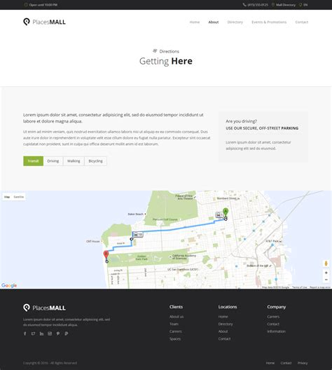 Places Custom Interactive Map Html5 Template By Sekler Themeforest Interactive Map Website Template