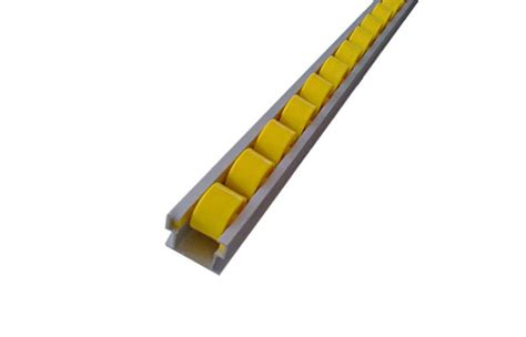 roller curtain track 40mm yellow first in first out flow roller curtain track
