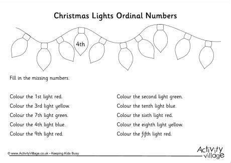 Ordinal Bike To Work 13 13 best images of ordinal numbers 1 20 worksheets