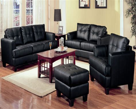 Black Leather Living Room Furniture by Wood Living Room Furniture World Living Room Design