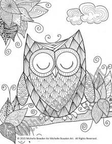 zendoodle coloring pages coloring page printable sleepy owl zendoodle by