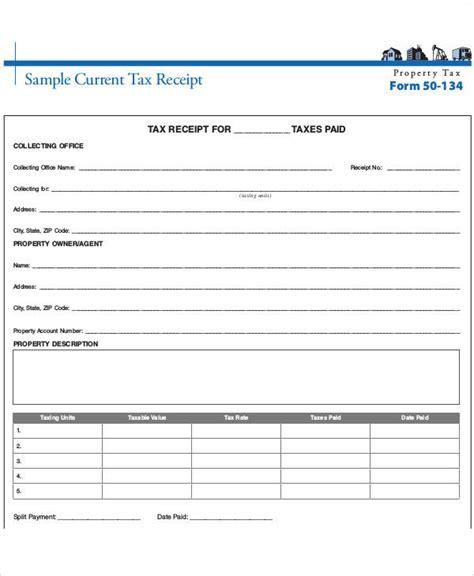 printable tax receipt printable payment receipt