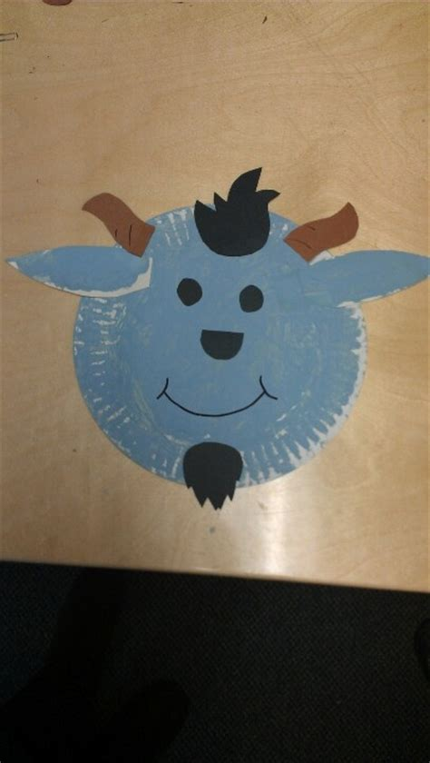 Goat Paper Plate Craft - paper plate goats fall preschool themes