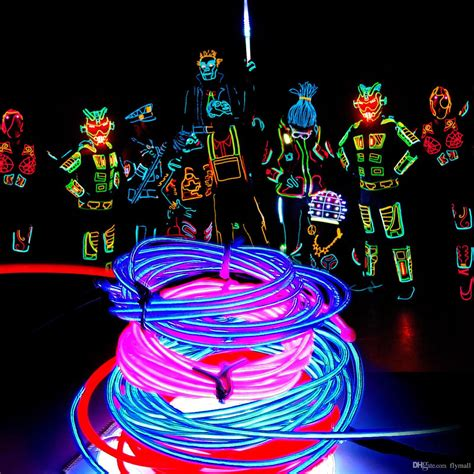 neon christmas lights 2018 5m neon light 16 4ft glow el wire string rope light car