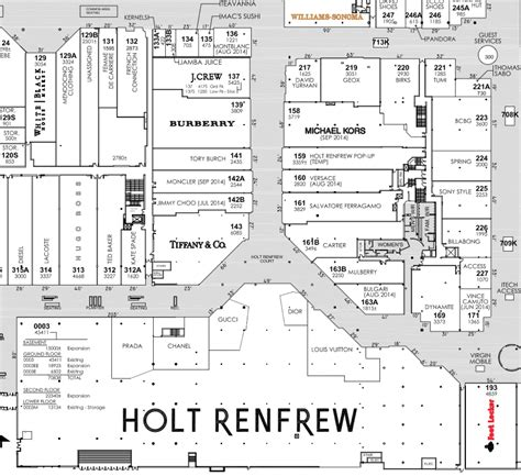 yorkdale mall floor plan lease plan published with permission