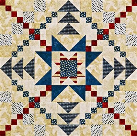 Patriotic Quilt Pattern by Michele Bilyeu Creates With And Free