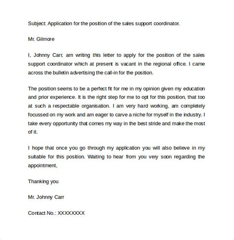 Sle Letter For Support Sle Cover Letter Exles For Sale 14 Free Documents In Pdf Word