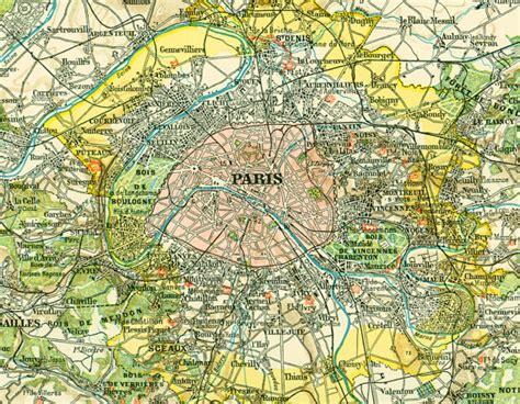 paris ses environs 97 1897 carte paris et ses environs planche originale nouveau