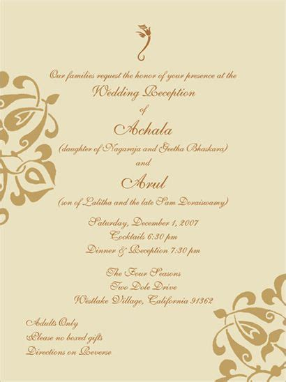 indian wedding invitation messages indian wedding invitation wording template indian